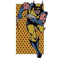 Wolverine Comic Dots Photographic Print