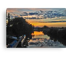 Sunset from the Bridge at Upton-on-Severn Canvas Print