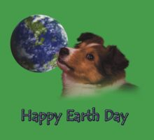 Happy Earth Day Sheltie Baby Tee