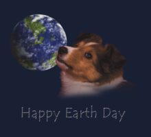 Happy Earth Day Sheltie Kids Clothes