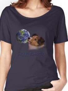Happy Earth Day Sheltie Women's Relaxed Fit T-Shirt