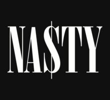 Na$ty Nasty Dollar Typography Graphic Tee T-Shirt