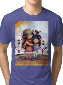 Love and Friendship Tri-blend T-Shirt