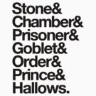 Stone & Chamber & Prisoner & Goblet & Order & Prince & Hallows Helvetica by RexLambo