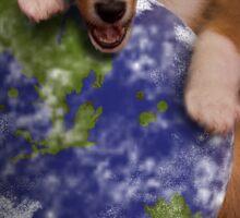 Happy Earth Day Sheltie Sticker