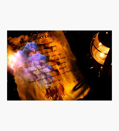 Firestarter (a page from the book of shadows) V2 Photographic Print