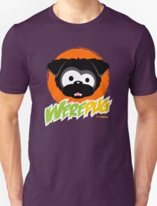Black WerePug - Dark Apparel Unisex T-Shirt