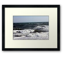 Waves at Orient Point Framed Print