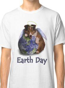 Earth Day Angel Sheltie Classic T-Shirt