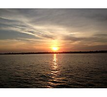 Sunset over the Long Island Sound Photographic Print