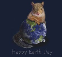 Happy Earth Day Squirrel Kids Clothes