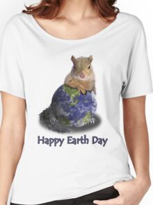 Happy Earth Day Squirrel Women's Relaxed Fit T-Shirt