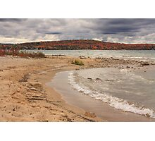Fall colors over Lake Charlevoix from Young State Park Photographic Print