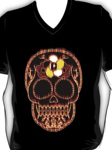 Flaming Day of the Dead Skull  T-Shirt