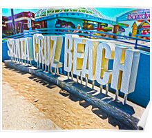 Santa Cruz Boardwalk Poster