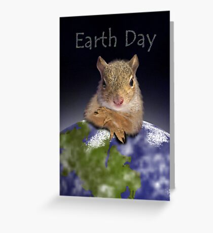 Earth Day Squirrel Greeting Card