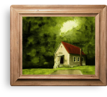 Country Church, version 1 ... with a canvas and framed look Canvas Print