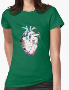 Anatomy - Heart Watercolor Womens Fitted T-Shirt