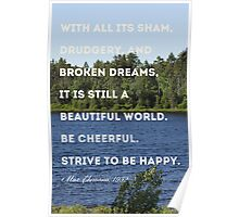 Strive to be Happy Poster