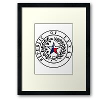 Texas Flag | State Seal | SteezeFactory.com Framed Print