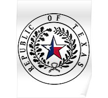 Texas Flag | State Seal | SteezeFactory.com Poster