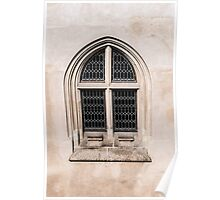 Gothic window. Poster