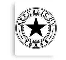 Texas 1836 | State Seal | SteezeFactory.com Canvas Print