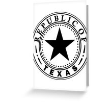 Texas 1836 | State Seal | SteezeFactory.com Greeting Card