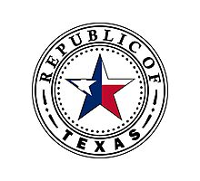 Texas 1836 Flag | State Seal | SteezeFactory.com Photographic Print