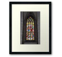 Medieval vitraux. Framed Print