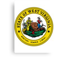West Virginia | State Seal | SteezeFactory.com Canvas Print