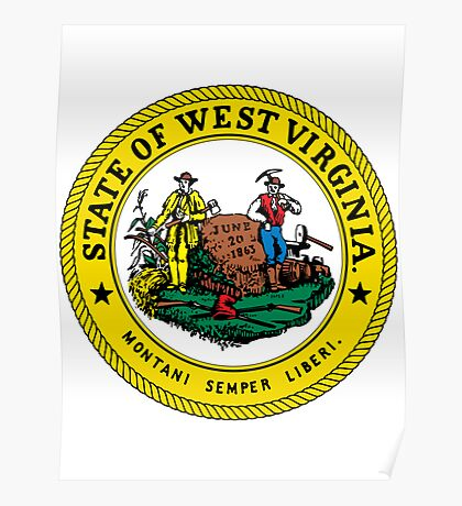 West Virginia | State Seal | SteezeFactory.com Poster