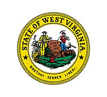 West Virginia | State Seal | SteezeFactory.com Photographic Print