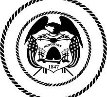 Utah Black White | State Seal | SteezeFactory.com by FreshThreadShop