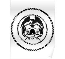 Utah Black White | State Seal | SteezeFactory.com Poster