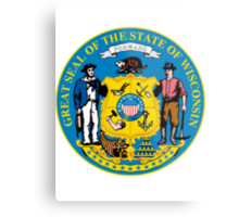 Wisconsin | State Seal | SteezeFactory.com Metal Print