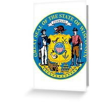Wisconsin | State Seal | SteezeFactory.com Greeting Card