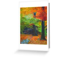 Impressionist Forest Greeting Card