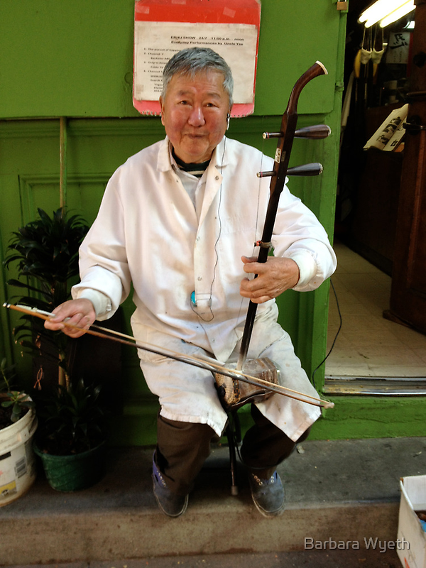 Musician - Chinatown by Barbara Wyeth