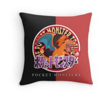 Pocket Monsters Red Throw Pillow