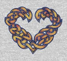 Celtic Heart - Gold with Blue trim by portiswood