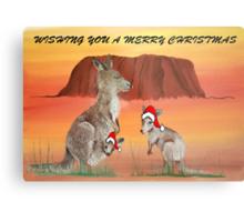 'HOPPING CHRISTMAS' Metal Print