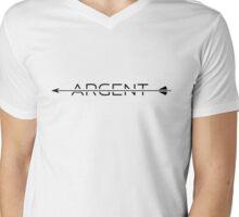 Argent [with arrow] [black] Mens V-Neck T-Shirt