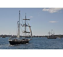 Tall Ships Departure, Fleet Review, Manly, Australia 2013 Photographic Print