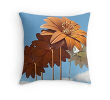 Flora Metallica Throw Pillow
