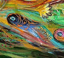 Original painting fragment 63 by Elena Kotliarker