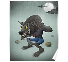 Halloween Wolfman Poster