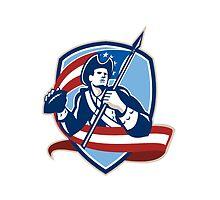 American Patriot Football Quarterback Shield by patrimonio
