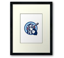 American Patriot Baseball Bat Retro Framed Print