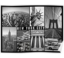 new york city travel poster Poster